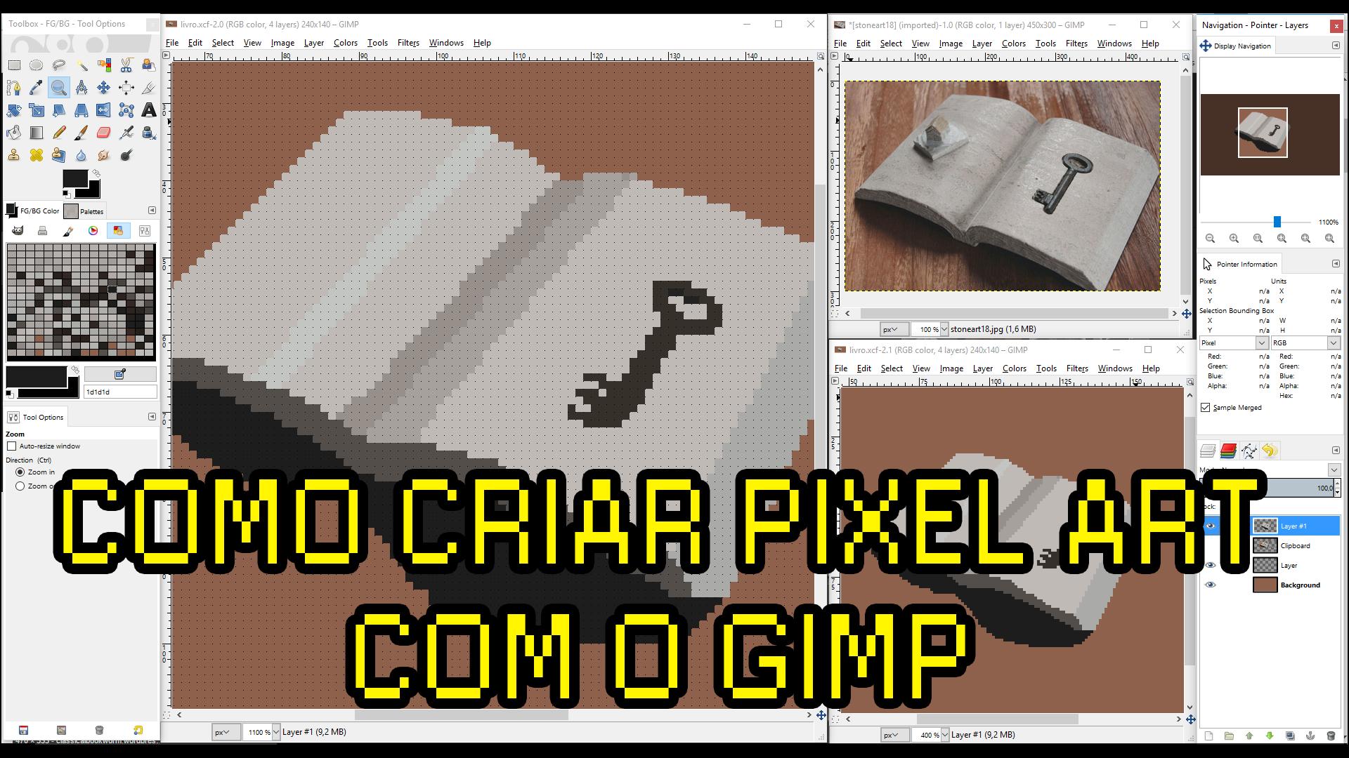 como usar o pixel art